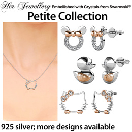 2146ed351 Embellished with Crystals from Swarovski® - 925 Sterling Silver - Petite  Jewellery Collection