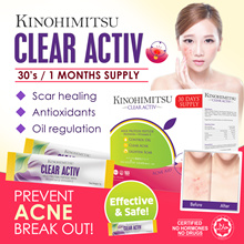 Kinohimitsu Clear Activ30s (1MTH SUPPLY) *Clear Acne*Control Oil Balance* Proven Effective by Review