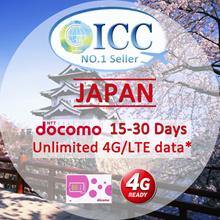 ◆ ICC◆【Japan Sim Card·5-30 Days】❤100% Authentic NTT DOCOMO ❤Unlimited 4G data❤Local Japan SIM