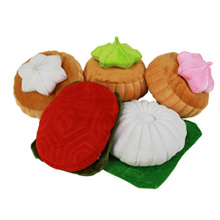 Tutu Kueh Cushion / Ang Ku Kueh Cushion / Gem Biscuit Cushion / Hong Pao Cushion / Durian Plushie