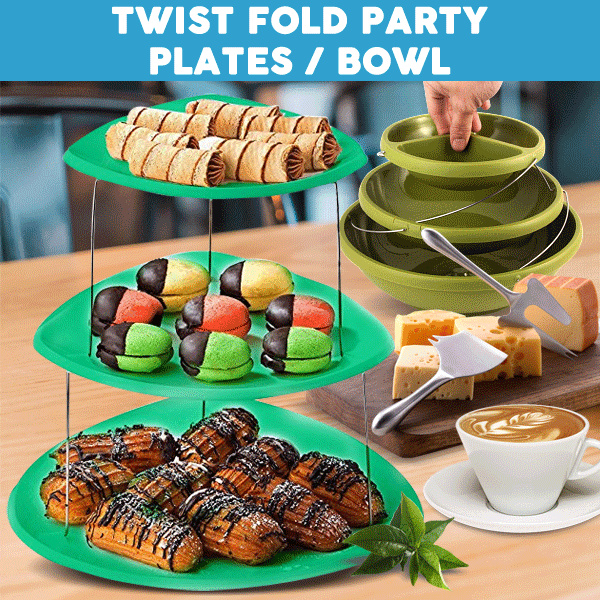 TWIST FOLD PARTY PLATES / BOWL Deals for only Rp135.000 instead of Rp135.000