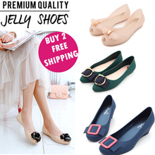 Special offer !!!  Limited spike!!!  Hot Selling Jelly Shoes women shoes flat jelly heels wedge