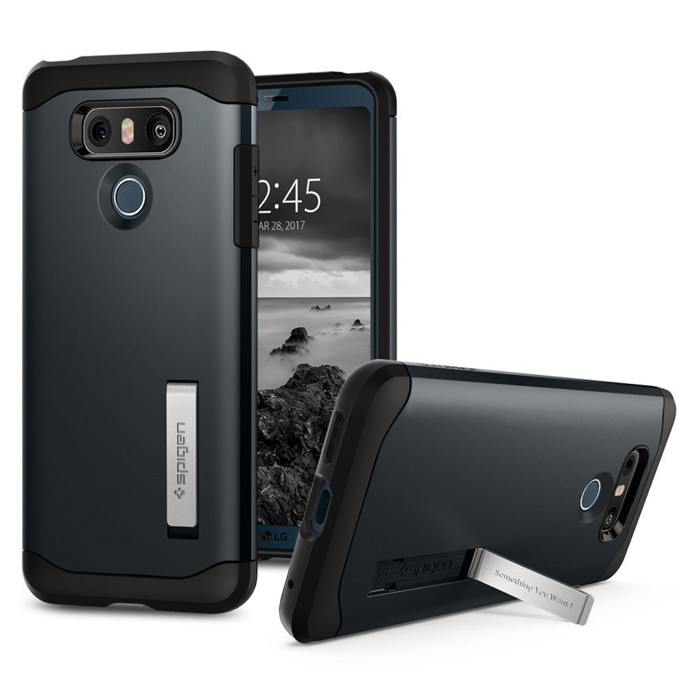 new concept ee244 bf4f2 SPIGENSpigen Slim Armor LG G6 Case with Air Cushion Technology and Hybrid  Drop Protection with Kickstand