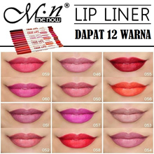 [GET 12pcs] MENOW LIP LINER SET 12 WARNA