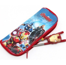 Brand New Tableware Chopsticks Spoon Fork Case Ironman 3D 2P Chopsticks Gift!