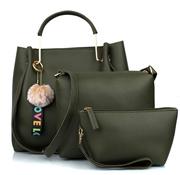 29K Women Handbag with Sling Bag Pouch (Set of 3) (Green Combo)
