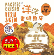 BUY 1 FREE1  !!!  [RANKED #3 IN SG] EASY PACKAGING Pacific Crispy Fish Skin 60g Salted Egg Flavour