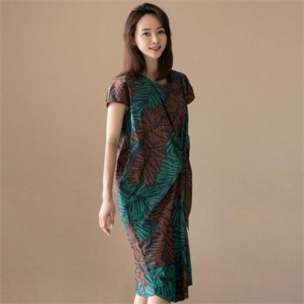 るみさんステイパターンリボンワンピースnew ロング/マキシワンピース/ワンピース/韓国ファッション