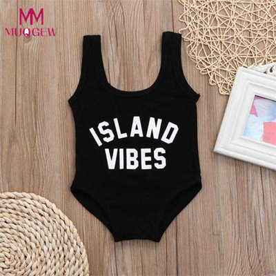 3546c48c3b outlet Newborn Girls Swimwear Solid Letter Print One Piece Swimsuit Clothes  2018 New Summer Girls Ba