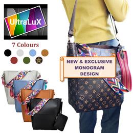 ❤️INSPIRED DESIGN❤️KOREAN STYLE COLOUR STRAPS BAG With Mini Case / Pouch Messenger Shoulder Sling