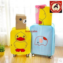 Cartoon nonwoven fabric waterproof luggage trolley suitcase protective cover dust cover wear cute
