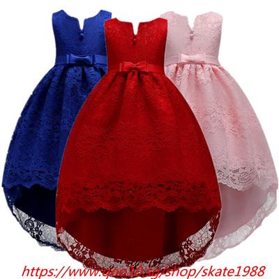 859191dc96fc2 White Kid Girls Wedding Flower Girl Dress Elegant Princess Party Trailing  Pageant Formal Bridesmaid