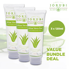 [Bundle of 3 x 120ml] JORUBI ALOE VERA GEL  *Official Store *99% Pure Aloe *Moisturizes