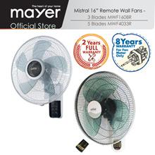 Mistral 16 Inch Wall Fan w Remote MWF1608R/ MWF4033R / 8 Yrs Warranty on Motor