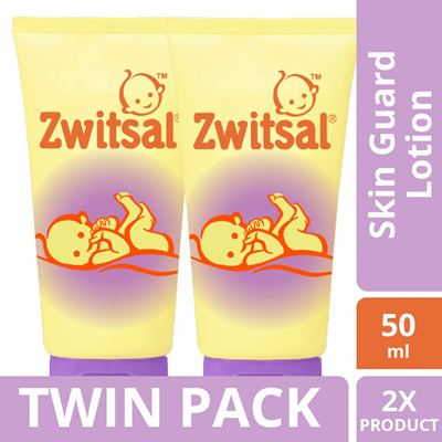 [TWIN PACK] Zwitsal Baby Skin Guard Lotion 50ML: Rating: 0: Free