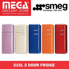 SMEG FAB30 315L 2 DOOR FRIDGE / LOCAL WARRANTY