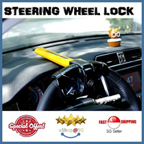 Universal Car Steering Wheel Lock : Deter car theft | Peace of Mind ★uShop SG★ ARMORED BAR