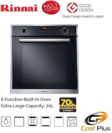 Rinnai 70Litres 6 Fuctions Built In Oven RO-E6206XA-EM * BEST SELLER IN YEAR 2017
