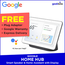 Google Home Hub. Asisten Google Dalam Layar 7 inci Dengan Speaker. Terbaru Di SG