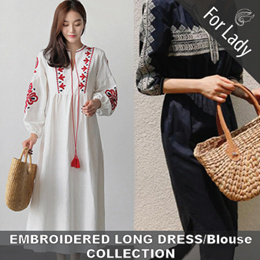 27th Mar Update New Style ● Embroidery Collection ● Embroidery / Long Dress / Dress / Long / Tops