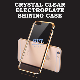 CRYSTAL CLEAR ELECTROPLATE SHINING CASE for Iphone | SAMSUNG | OPPO | XIAOMI
