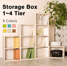 ★New Arrivals★ Color Box 1~4Tier furniture/storage box/rack/bookshelves/bookcase/bookshelf