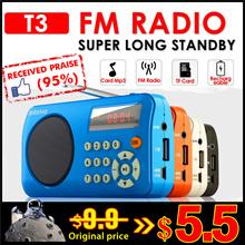 Mini Radio * FM Radio * T3 W505 * Portable Radio Player with SD Card Slot|
