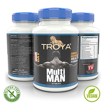 Sb Troya Daily Mens Multivitamin For Weight Loss Build Muscle Sex Health Boost Energy With Vitam