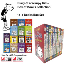 Diary of a Wimpy Kid 12+2 Books Collection Box Set by Jeff Kinney