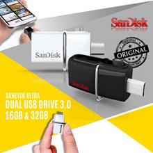 SanDisk USB 3.0 Ultra Dual USB Drive OTG 16GB~32GB GARANSI RESMI SANDISK INDONESIA