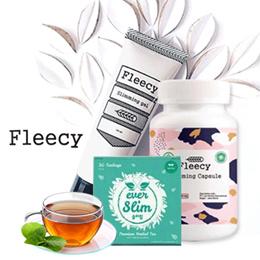 Fleecy Slimming Gel Original - Gel pelangsing /Fleecy Slimming Capsule Halal BPOM/ EVERSLIM Slim