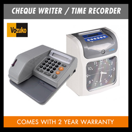 Cheque Writer -Come with 2 YEAR WARRANTY/electronic time recorder with 2 YEAR WARRANTY/ repeatable