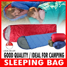 Thermal Sleeping Bag Camping Envelope Hooded Travel Keep Warm Water Resistant waterproof Cotton Bag