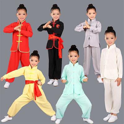 wholesale Children Wushu Clothing Girl Boy Chinese Traditional Kung Fu  Uniform Kids Tai Chi Clothes