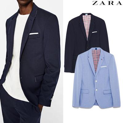 80ec3cf9 Qoo10 - [ZARA] Mens Knit Suit Blazer Casual Jacket : Men's Clothing