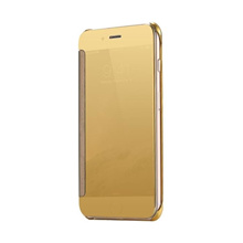 Wallet Mirror View Flip Cover Oppo A3S - Gold