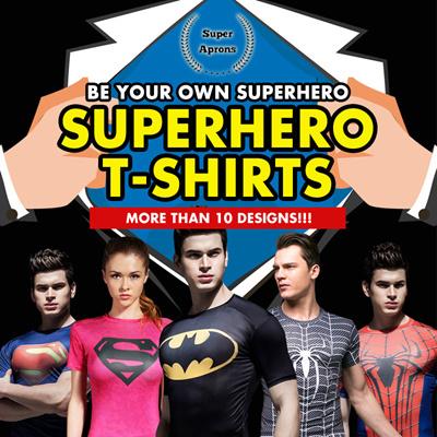 2c1f9285 Cool Quick Dry Sports Gym Compression T-Shirt Spiderman/Batman/Ironman/ Captain