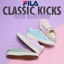 [FILA] ♥Use Qoo10 Coupon♥Limited Edition♥ CLASSIC KICKS B PASTEL COUPLE SNEAKERS