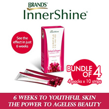 [BUNDLE OF 4] BRANDS InnerShine® RubyCollagen 4 x 10 Strips