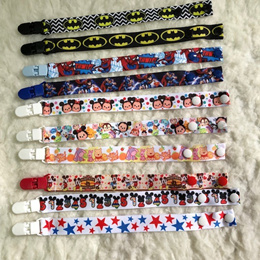 Pacifier holder/clip / toys strap / handmade / secure clip stroller strapping for toys cartoon