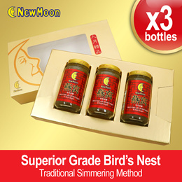 NEW MOON Bird's Nest with White Fungus Rock Sugar Giftset 3 x 150ml