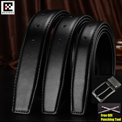 dc6176fffe03 30-35mm Cowhide Genuine Leather Belts for men Brand Strap male pin buckle  vintage jeans
