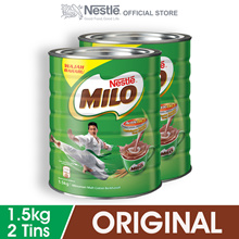 NESTLE MILO ACTIV-GO CHOCOLATE MALT POWDER 1.5kg  2 Tins
