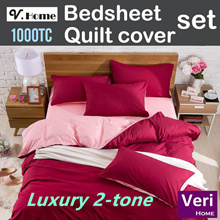 【Thicker Softer! Luxury 2-tone Beddings】Thicker fabric! Soft and CoolingTouch! Best value in town!