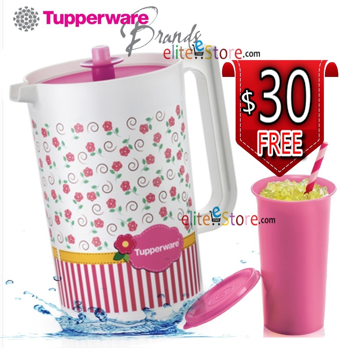 Qoo10 Blushing Topper Kitchen Dining Tupperware Classy Red Collection Fit To Viewer