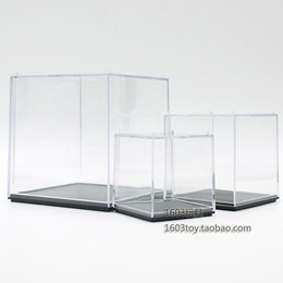 Display box holder / model anime doll clay decoration toy one transparent dust-proof display box hol
