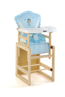 Happy children dining Chair multifunctional solid wood unpainted baby dining chair Table chair
