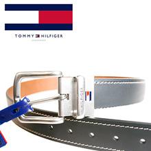 9115cd7a5e8 Tommy brand Black brown Leather Brandlogo Pattern logo belt Size adjustment  belt Tommy belt man 4296