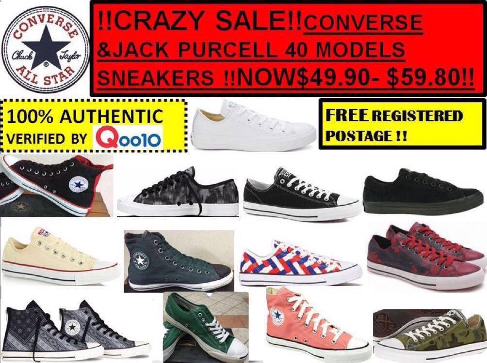 2049f87be2196 ConverseMEGA SALE !! CONVERSE JACK PURCELL AND SLIP ON SHOES !!!