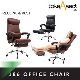 New PU leather recline Office chair J86 with legrest |best bargain|table|mesh cushion